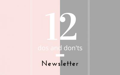 Achtung Newsletter! – Was gibt es zu beachten? –  12 Tipps
