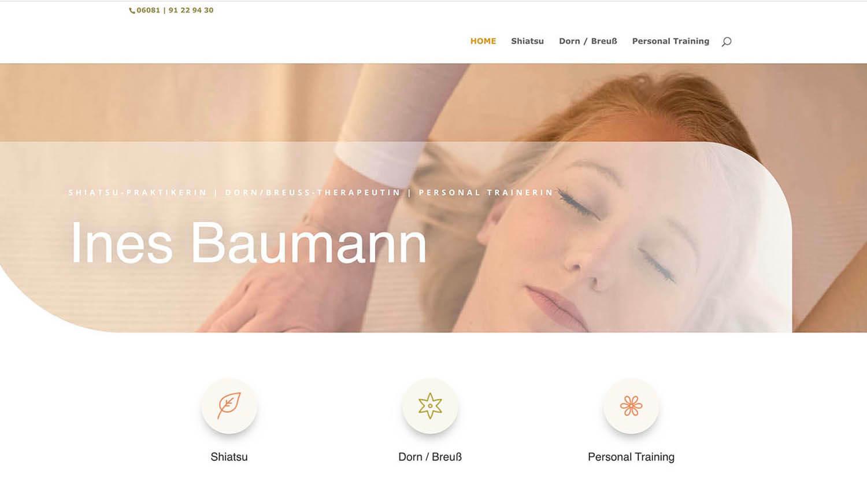 Ines Baumann Shiatsu Therapeutin