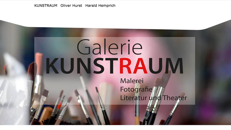 Portfolio Carmen Hurst | webDesign - Website Galerie Kunstraum
