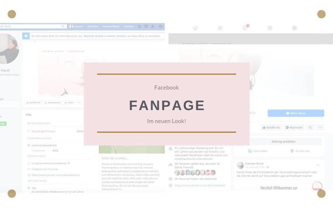 Facebook Fanpage im neuen Look